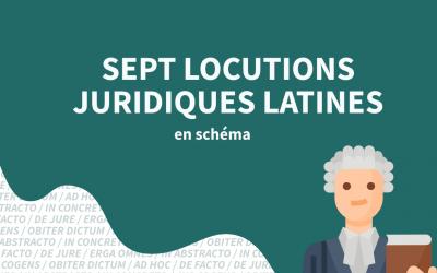 Sept locutions juridiques latines